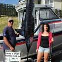 Codie McIntyre's first marlin was boated in the inaugural Ladies Contest 2012. Awesome Codie.