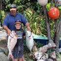 Ben Nilsson had a great day out on Bluey and came home with this nice snapper and trevally. He has heaps more fishing points than his dad, Doug. Well done Ben.