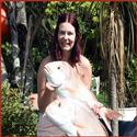 Yvette Martin with her 2 x 5kg snapper off Bluey.